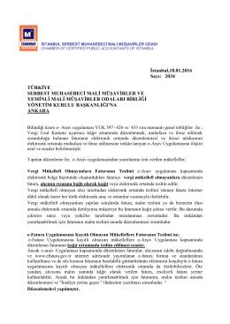 İstanbul, 24 /11/2015 - İstanbul SMMM Odası