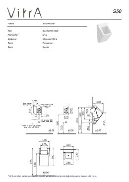 Tanım : S50 Pisuvar Kod : 5330B003-0309 Ağırlık (kg) : 21,0