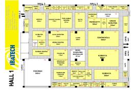 Salon Planları - IBATECH 2016