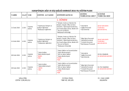 2016 Yılı Eğitim Planı - karapurcekadsm.gov.tr