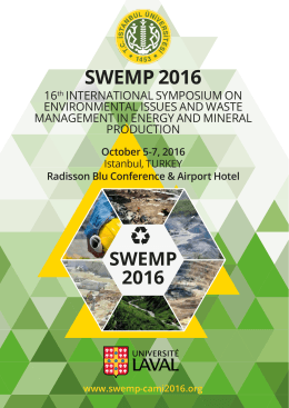 ANNOUNCEMENT for SWEMP 2016