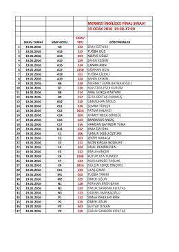 merkezi ingilizce final sınavı 19 ocak 2016 15:30