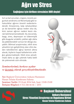 Ayrıntılı bilgi için tıklayınız... - Başkent Üniversitesi Ankara Hastanesi