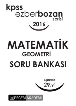 Geometri Soru Bankası 2016
