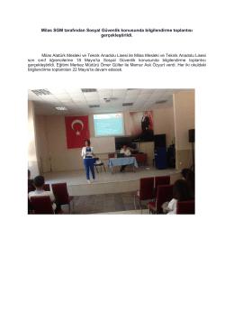Milas SGM tarafından Sosyal Güvenlik konusunda bilgilendirme