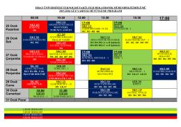 2015-2016 güz yarıyılı bütünleme sınav programı (22.01.2016) v.5