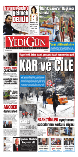 DELİLİK - Yedigün Gazetesi