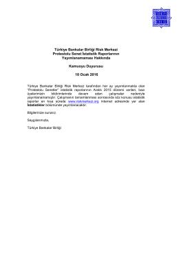 Türkiye Bankalar Birliği Risk Merkezi Protestolu Senet İstatistik