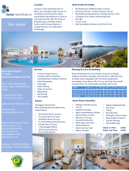 E-Broşür - Doria Hotel