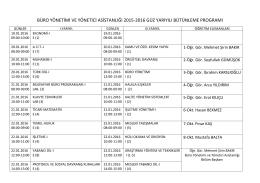 büro yönetimi ve yönetici asistanlığı 2015