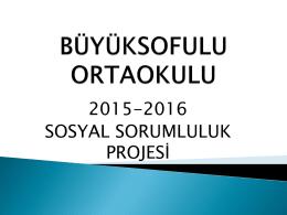 Sosyal Sorumluluk Projesi