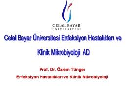 Prof. Dr. Özlem Tünger Enfeksiyon Hastalıkları ve Klinik