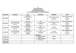 saat/gün pazartesi salı çarşamba perşembe cuma 08:30