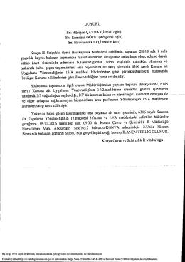 Bu belge 5070 sayılı elektronik imza kanununa göre güvenli