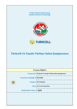 U 16 Erkekler - Türkiye Atletizm Federasyonu