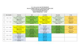 İkinci Öğretim Ders Programı - Hasan Ferdi Turgutlu Teknoloji