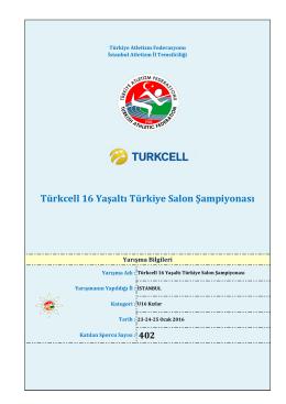 Türkcell 16 Yaşaltı Türkiye Salon Şampiyonası