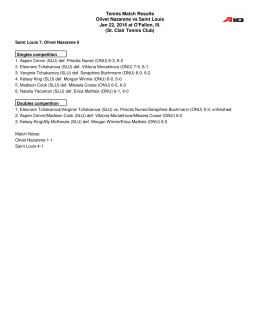 Box Score - Olivet Nazarene University