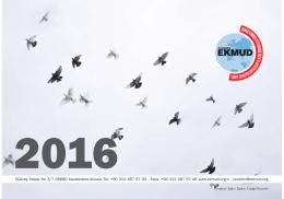 EKMUD 2016 Takvimi