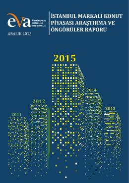 istanbul markalı konut piyasası araştırma ve öngörüler raporu