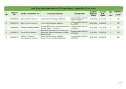 2016 İdareci Hizmetiçi Eğitim Planı