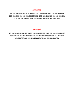a kitapçığı 1a 2c 3d 4d 5c 6d 7c 8b 9a 10d 11a 12d 13b 14c 15d