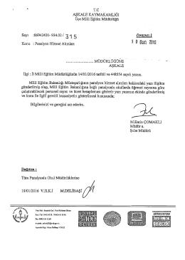 Pansiyon Hizmet Alımları - Aşkale İlçe Milli Eğitim Müdürlüğü