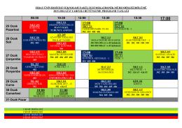 2015-2016 güz yarıyılı bütünleme sınav programı