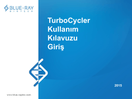 TurboCycler Kullan*m K*lavuzu Giri*