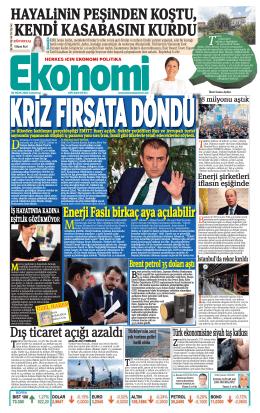 30 OCAK 2016 - Ekonomi Gazetesi