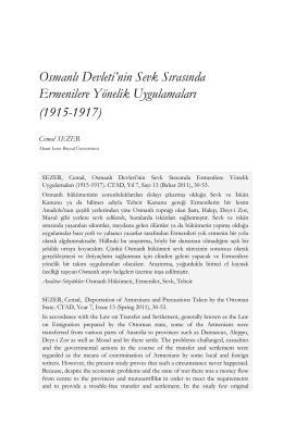 Tam Metin - CTAD:Cumhuriyet Tarihi Araştırmaları Dergisi