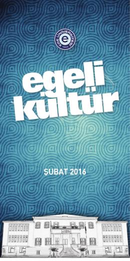 Egeli Kültür Şubat Ayı Programı - Sağlık Kültür ve Spor Daire