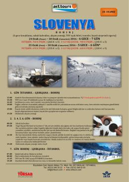 Slovenya kayak turu 24 – 25 Ocak – 30 Ocak 2016