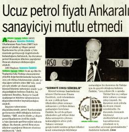 (ASO) Başkanı Nurettin Özdebir, Uluslararası Para Fonu (IMF)`nun