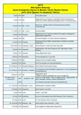 2015-2016 akademik 29 Temmuz 2015
