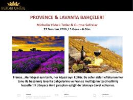 PROVENCE Lavanta Bahçeleri Michelin Yıldızlı