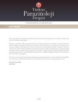 Tam Metin  - Türkiye Parazitoloji Dergisi