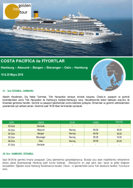 COSTA PACİFİCA ile FİYORTLAR - Golden Bay Cruise Gemi Turları