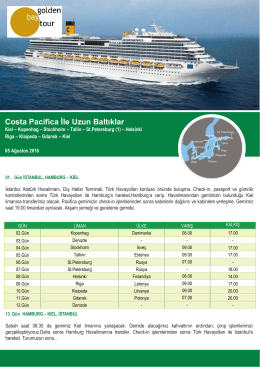 Costa Pacifica İle Uzun Baltıklar