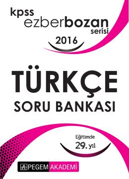 KPSS Ezberbozan Türkçe Soru Bankası 2016