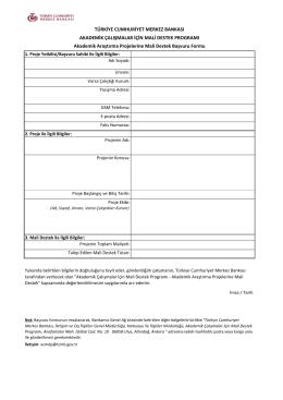 ACMDP Proje Form