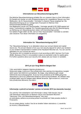 Informationen zur Zins-und Steuerbescheinigung 2009