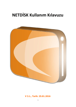 NETDİSK Kullanım Kılavuzu