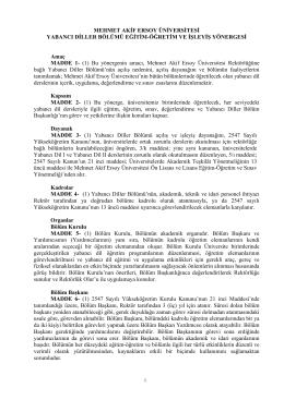 AKDENİZ ÜNİVERSİTESİ - Mehmet Akif Ersoy Üniversitesi