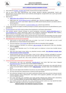 2015-2016 bahar dönemi kayıt yenileme işlemleri hakkında duyuru