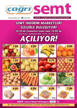 AÇILIYOR! - Çağrı Semt Market | Kaliteli Ucuzluk Semtimde