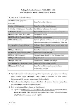 Yeditepe Üniversitesi Eczacılık Fakültesi 2015