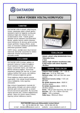 VAR-4 Tanıtım Dökümanı - İndir