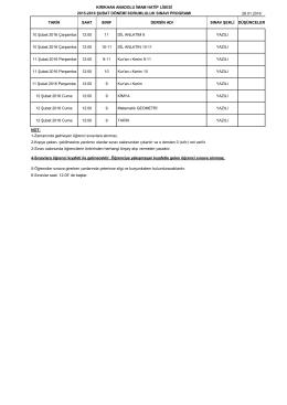 2015-2016 eğitim öğretim yılı şubat ayısorumluluk sınavı