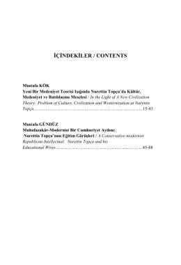 İÇİNDEKİLER / CONTENTS